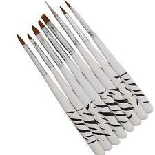 White Tools Zebra Painting Drawing Liners Dotting UV Gel Brush Nail Art