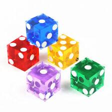 High-grade Acrylic precision dice transparent dice six side -19mm 5 pcs
