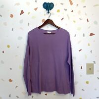 J Jill XL Lilac Purple Knit Long Sleeve Crew Pullover Sweater Top Blouse Womens