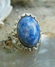 dekorativer ethno ring silber 925 mit sodalith 18 mm