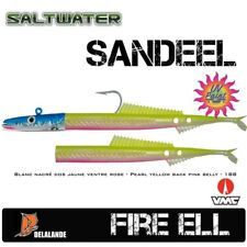2 Stück DELALANDE Sandaal / Fire Eel 18 cm Farbcode 188 + Darting Jig Head 125g