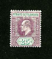 Straits Settlements Stamps # 117 XF OG LH Scott Value $60.00