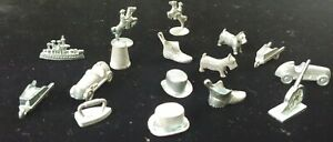Vintage early Monopoly Pieces tokens assortment Lot of  16