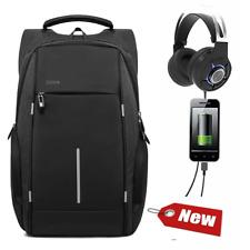 c65a3e767df72 Rucksack Herren Premium Schule Männer Arbeit schwarz USB Schloss Laptop  Notebook
