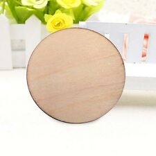 50pcs 30mm Unfinished Wooden Round Discs Embellishments Rustic Art Crafts DIY
