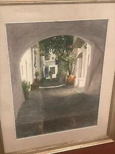 Robert Moesle Painting Old Cadaques Spain Listed Artist