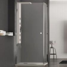 Box doccia 75x90 battente cristallo opaco con parete fissa altezza 190 h