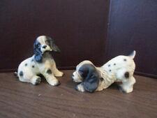 Vintage Ceramic Dog Figurine - Brittany Spaniel - Dogs - Puppy - JAPAN