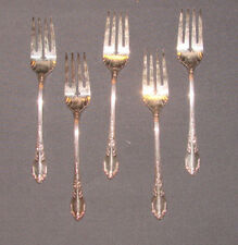 5 Vintage 1881 Rogers Enchantment Oneida LTD Silverplate Salad Forks