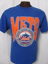 vintage New York Mets 1990 Baseball 90s Trench retro mlb blue cotton t-shirt M