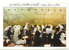 Sukkot Prayer in Jerusalem Kotel POSTCARD Tabernacles Western Wall Jewish Temple