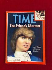 "1981, Lady Diana (Princess) ""TIME"" Magazine (Scarce)"
