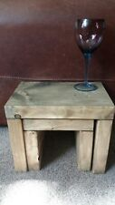 Nest of two tables large one 45xm high x 45cm long finished in light oak