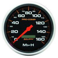 "Auto Meter 5189 5"" Speedometer Gauge 0-160 Mph Electric Pro-Comp"