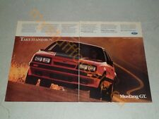 1986 FORD MUSTANG GT ARTICLE / AD