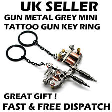 Mini Tattoo Gun Tattoo Machine Key Ring Key Chain Metal Xmas Bday Gift UK x 1