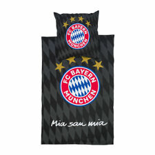 Bettwäsche schwarz Baumwolle Wendemotiv FC Bayern München 22869 FCB Fanartikel
