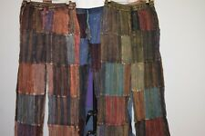 Pants Stripped Tibetan cotton hippy Mens Nepal yoga Comfy Unisex Summer Boho NEW