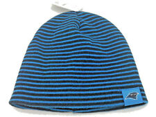 24be956e Carolina Panthers Hat Striped Cuffless Knit Beanie by Reebok