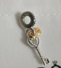 pandora charm pendente chiave e lucchetto gold: