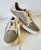 Women's OluKai Pehuea Li Lace Up Sneaker - Grey size 7.5 Shoes