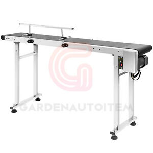 BeltElectric Conveyor With Stainless Steel Double Guardrail Adjustable handle