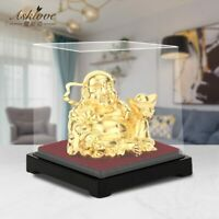 Gold Laughing Buddha Statue Feng Shui Money Maitreya Buddha Sculpture Figurines