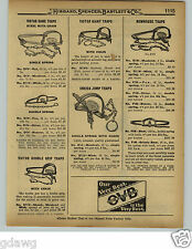 1929 PAPER AD Newhouse Steel Leg Hold Traps #6 #5 Grizzly Bear Black Bears'