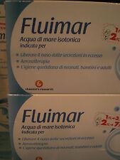 FLUIMAR ACQUA DI MARE ISOTONICA 2 confezioni da 18 flaconcini cad lavaggi nasali