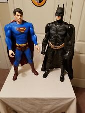 "DC COMICS SUPERMAN AND BATMAN LOT OF 2 30"" ACTION FIGURES"