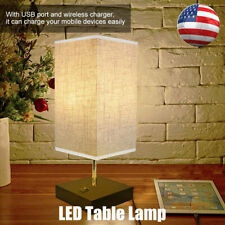 USB Charger E27 LED Desk Table Lamp Wireless Phone Charger Reading Study Light