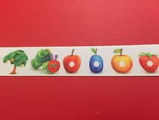 HUNGRY CATERPILLAR Grosgrain RIBBON 1Mtr X 25mm For Craft Hair Gifts Cakes