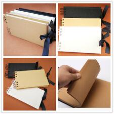 Kraft Ribbon Tie Scrapbook Photo Album Display Book Bound DIY 40 Pages