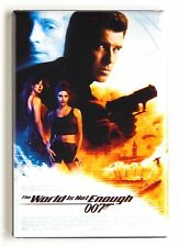 The World is Not Enough FRIDGE MAGNET (2 x 3 inches) movie poster james bond