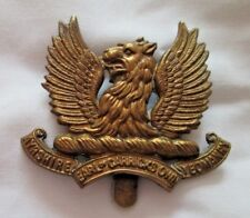 The Ayrshire (Earl of Carricks Own ) Yeomanry Cap Badge .in gilded metal..
