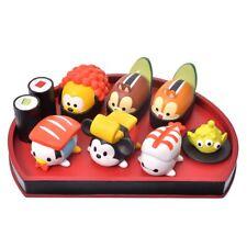 MICKY MINNIE FRIENDS CHIP DALE TSUM TSUM SUSHI FIGURE SET DISNEY STORE JAPAN