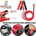 2 Pcs Car Battery Charging Charger Alligator Clips Booster Jumper Cable 20a New