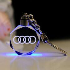 AUDI 3D CAR LOGO KEYCHAIN WITH LED LIGHT (USA SELLER) GIFT