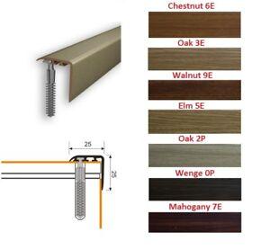 Stair Nosing Edge Trim Step Nose Floor Edging For Carpet Laminate Floor-1m 25x25