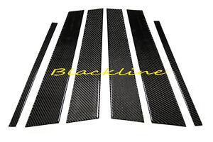 For08~14 Mercedes C-Class W204 Carbon Fiber Door Trim Pillar Panel C63 C250 C350