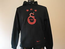 GALATASARAY OFFICIAL HOODIE JUMPER ADULTS LARGE BLACK NEW