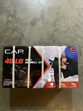 NEW CAP 40 Lb Total Adjustable Vinyl Dumbbell Weight Set FAST SHIPPING