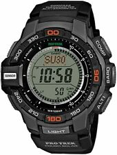 Casio Protrek Solar Triple Sensor Digital Men's Black Resin Watch PRG270-1