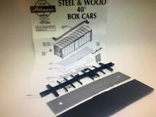 Athearn HO 40' Box Car Parts - Value Pack - Steel Weight, Floor & Underframe NEW