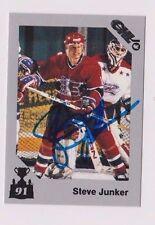 90/91 Steve Junker Spokane Chiefs Autographed CHL Memorial Cup Card