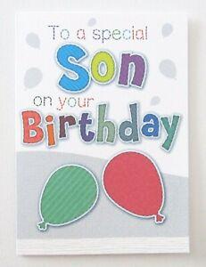 Happy Birthday Special Son Fun Greetings Card Boys -UK Made- Free P&P