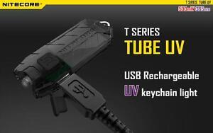 Nitecore Tube UV USB Rechargeable Keychain UV Light
