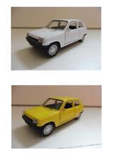 "Lot 2 Renault 5 ""R5"" Blanc, Jaune 1/38 Welly NEUF Boite d'origine"