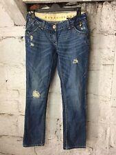 Women's  River Island Blue Denim Jeans Italian Designer UK 10  (1579)