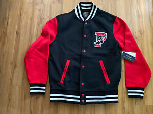 NWT Polo Ralph Lauren P-Wing 1992 Black Red White Stadium Jacket. 🐎🐎🐎🔥. 2XL